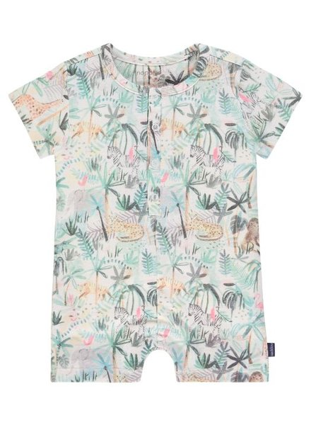 Noppies Boys playsuit Seekonk Color: blanc de blanc