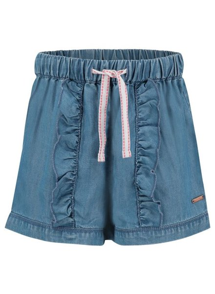 Noppies Girls short Ruffle  Selma Color: light wash denim