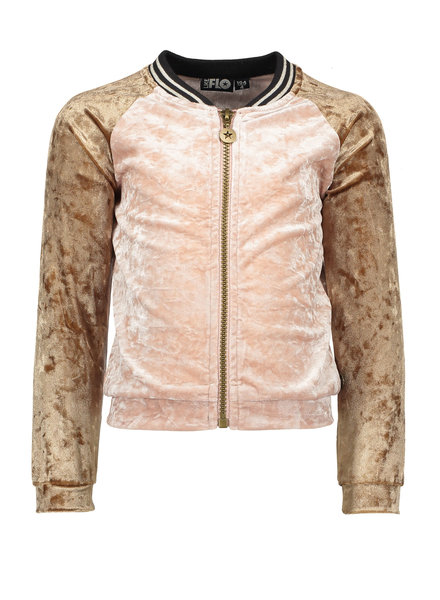 Like Flo Flo girls velours baseball cardigan