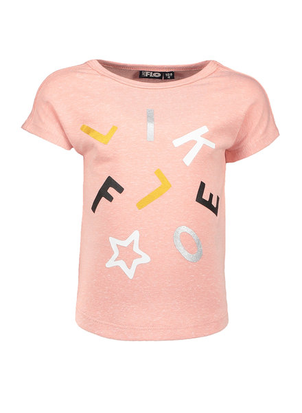 Like Flo Flo girls jersey tee old pink