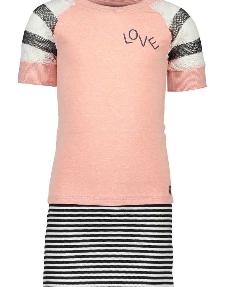Like Flo Flo girls jersey dress with striped skirt