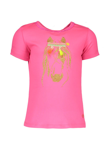 Kidz Art T-shirt s/s horse Color: neon pink