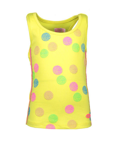 Kidz Art Racerback top panel print dots + knitted stripe tapes E