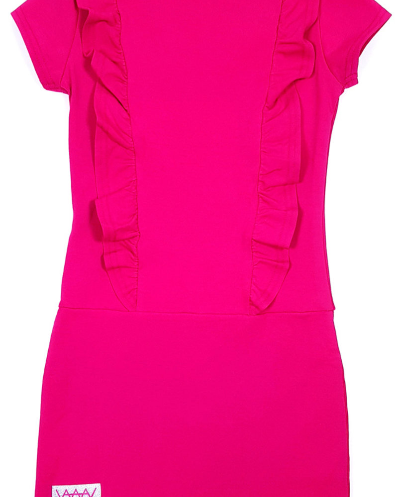 Waaaw V-dress roze