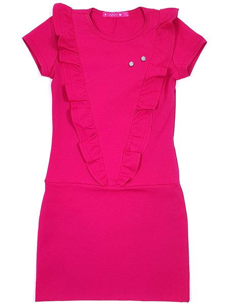 Waaaw V-dress roze
