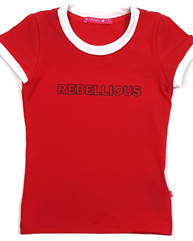 Waaaw T-shirt met print rood