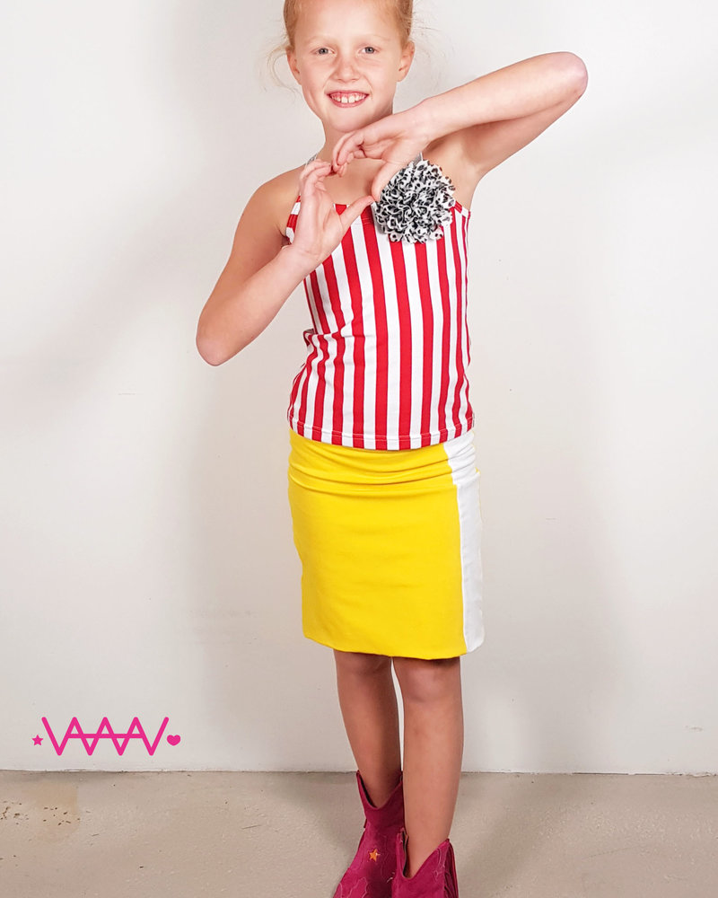 Waaaw Hemd rood/wit
