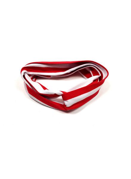 Waaaw Haarband rood-wit gestreept