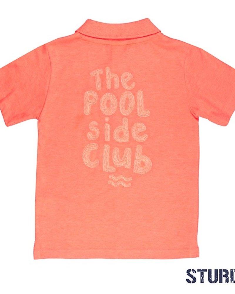 Sturdy Boys Polo k/m Pool Patrol Pool Party Color: neon oranje