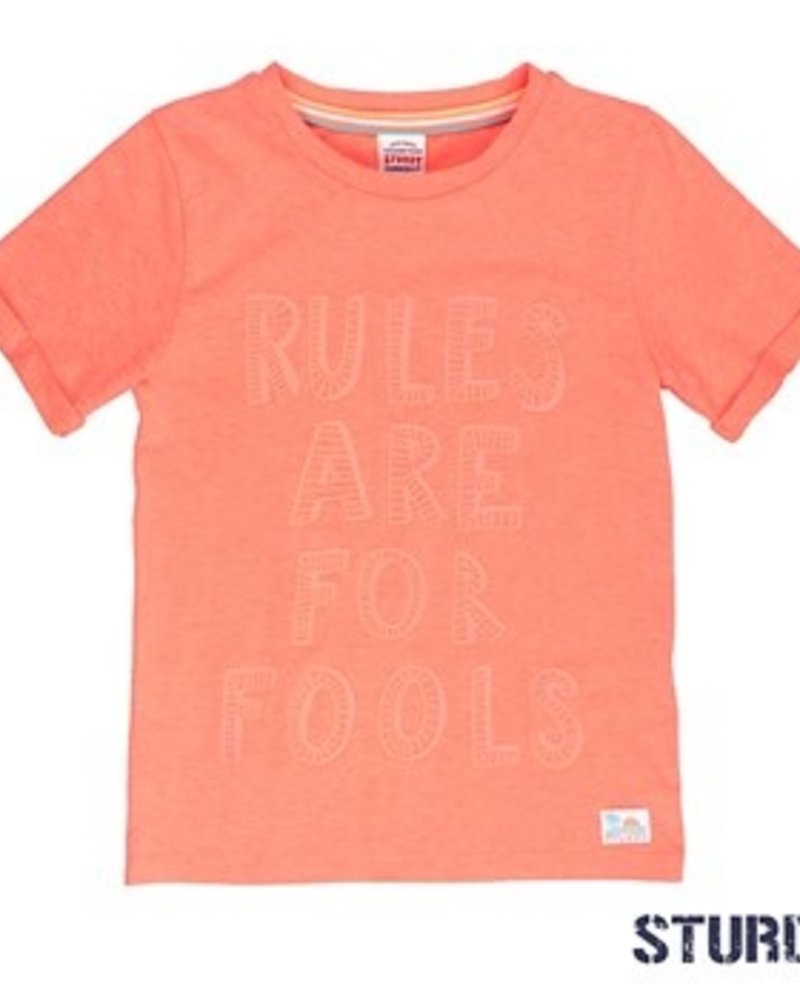 Sturdy Boys T.shirt k/m rules Pool Party Color: neon oranje