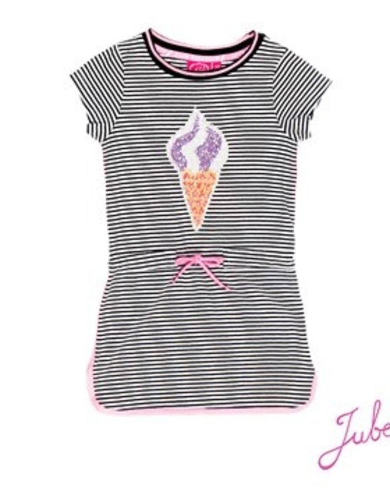 Jubel Girls jurkje k/m met Discodip Color: black