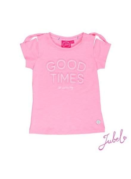 Jubel Girls T.Shirt k/m Good Times Color: roze