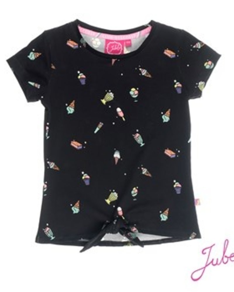 Jubel Girls T.Shirt k/m Disco Dip Color black