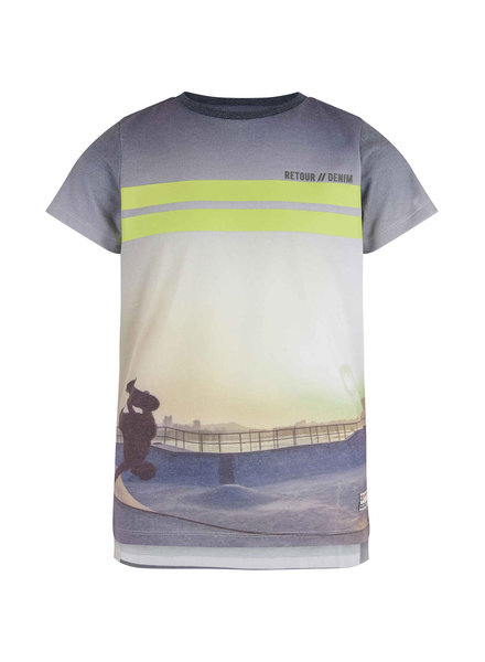 Retour Boys Shirt Matteo Color:  neon yellow