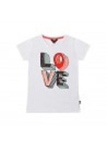 Little Miss Juliette Girls T.Shirt Love Color: wht