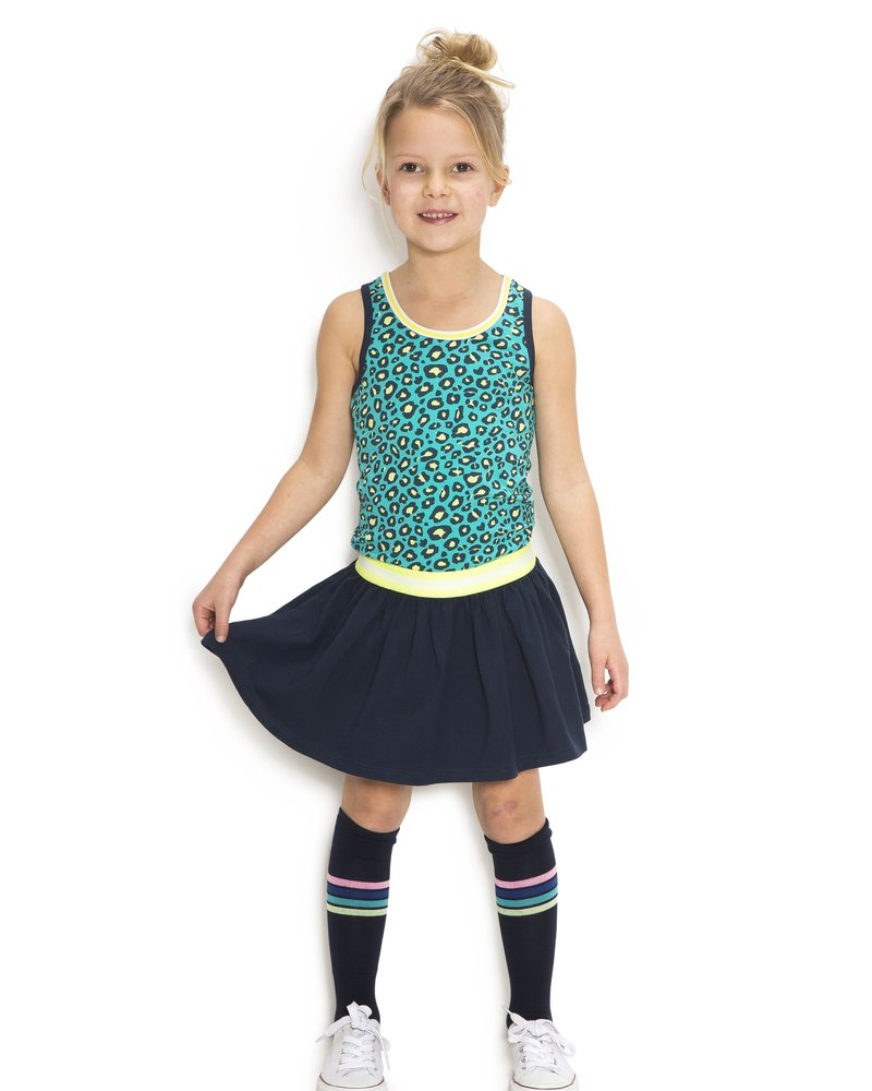 B.nosy Girls jersey dress with rib neck - turquoise