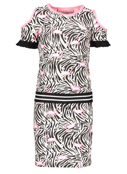 B.nosy Girls jersey dress with open shoulder