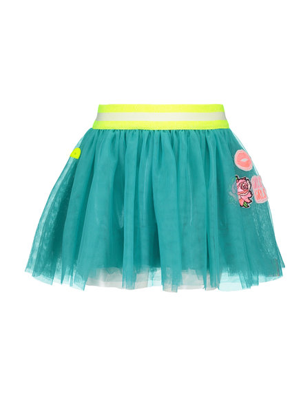 B.nosy Girls netting skirt - turquoise