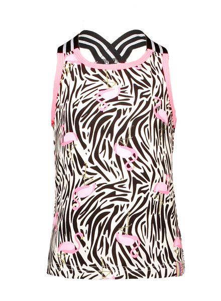 B.nosy Girls jersey singlet with singlet -  white flamingo