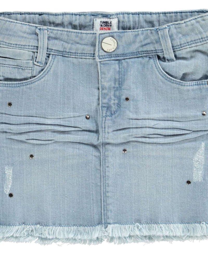 Tumble 'n Dry Girls denim skirt Carlin Color denim bleach