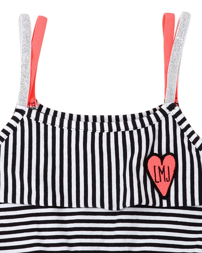 Little Miss Juliette Girls Maxi Dress Stripe