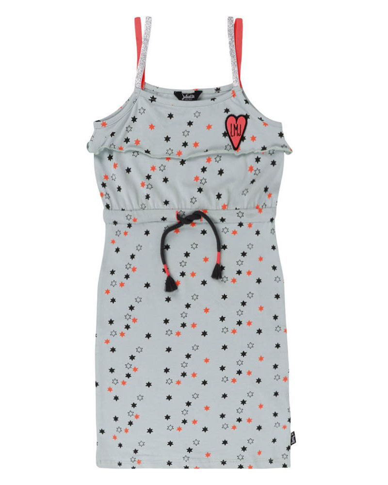 Little Miss Juliette Girls Dress with Print Color: HAR