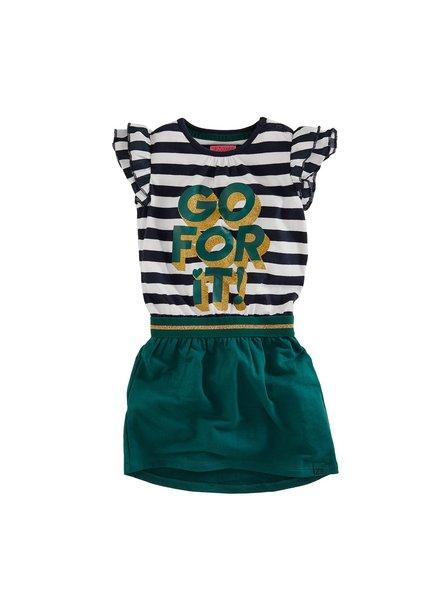 Z8 Girls Dress Aaf-Royal blue/Bottle green