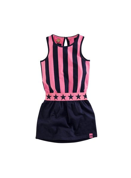 Z8 Girls Dress Elsa-Royal blue/Popping pink