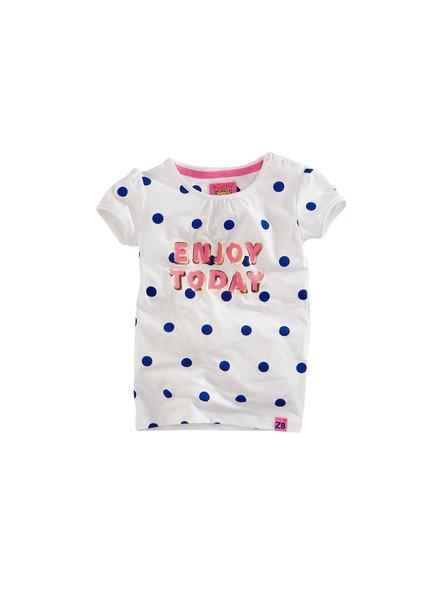 Z8 Girls T.Shirt Zoe-Bright white/Brilliant blue/Dots