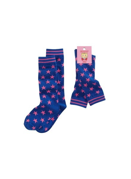 Z8 Girls Socks Liv-Brilliant blue/Popping pink/Stars