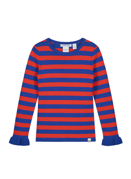 NIK & NIK Girls Pullover Jolie Stripe Color: Blue/Red