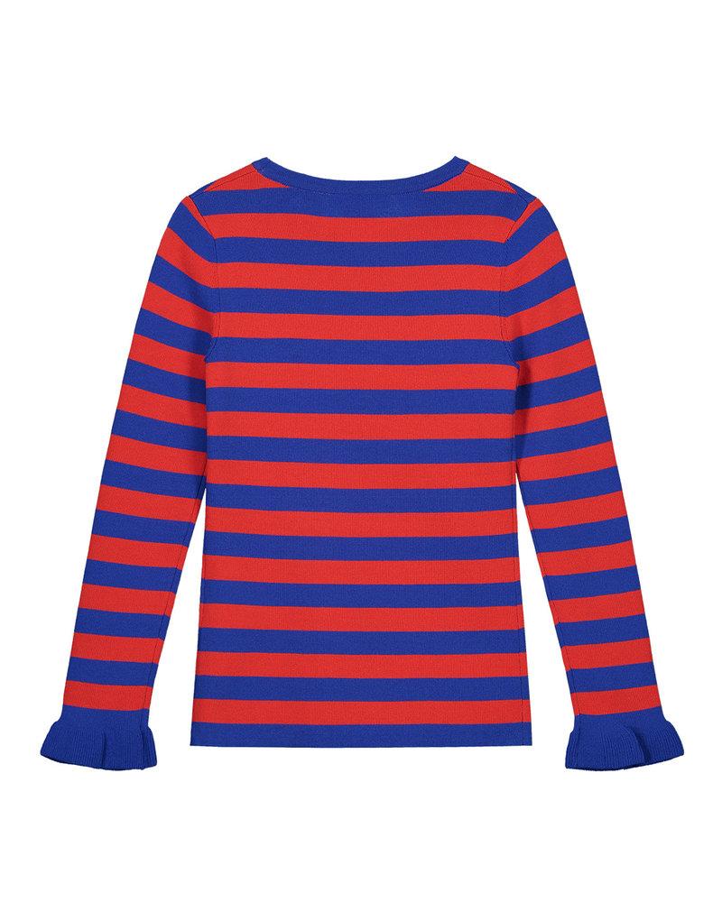 NIK & NIK Girls Pullover Jolie Stripe Color: Blue/Red