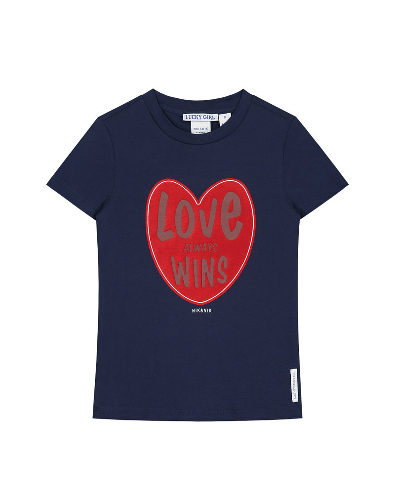 NIK & NIK Girls T.shirt Love Wins Color: dark blue