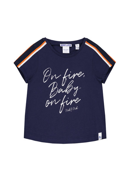 NIK & NIK Girls T.Shirt On Fire Color: dark blue