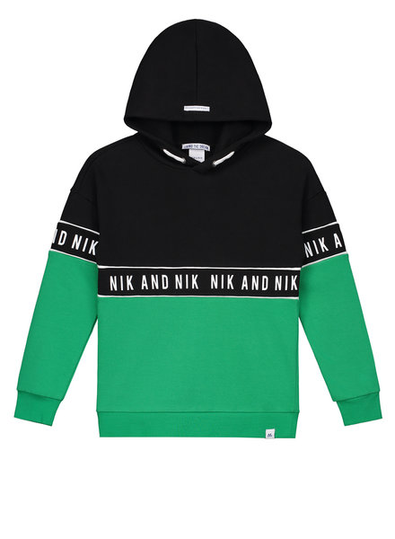 NIK & NIK Boys Hoodie Marvus Color: persian green