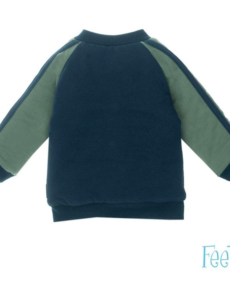 Feetje Boys Vest reverible- Smile Color: Blue