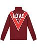 NIK & NIK Girls Love Trackjacket Color: deep red