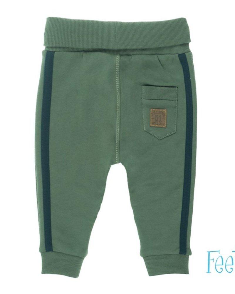 Feetje Boys broek met zijstreep Color: army