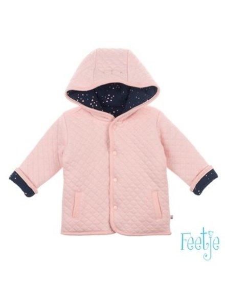 Feetje Girjs omkeerbaar jasje met capuchon Color: roze