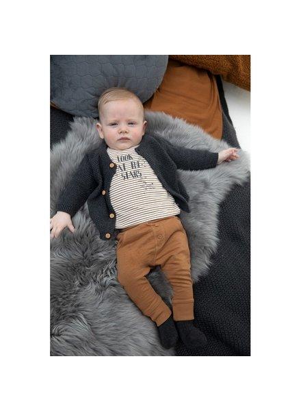 Feetje Baby longsleeve Stripe Color: camel