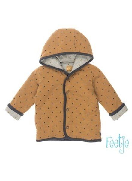 Feetje Baby omkeerbaar jasje met capuchon Color: grijs melange