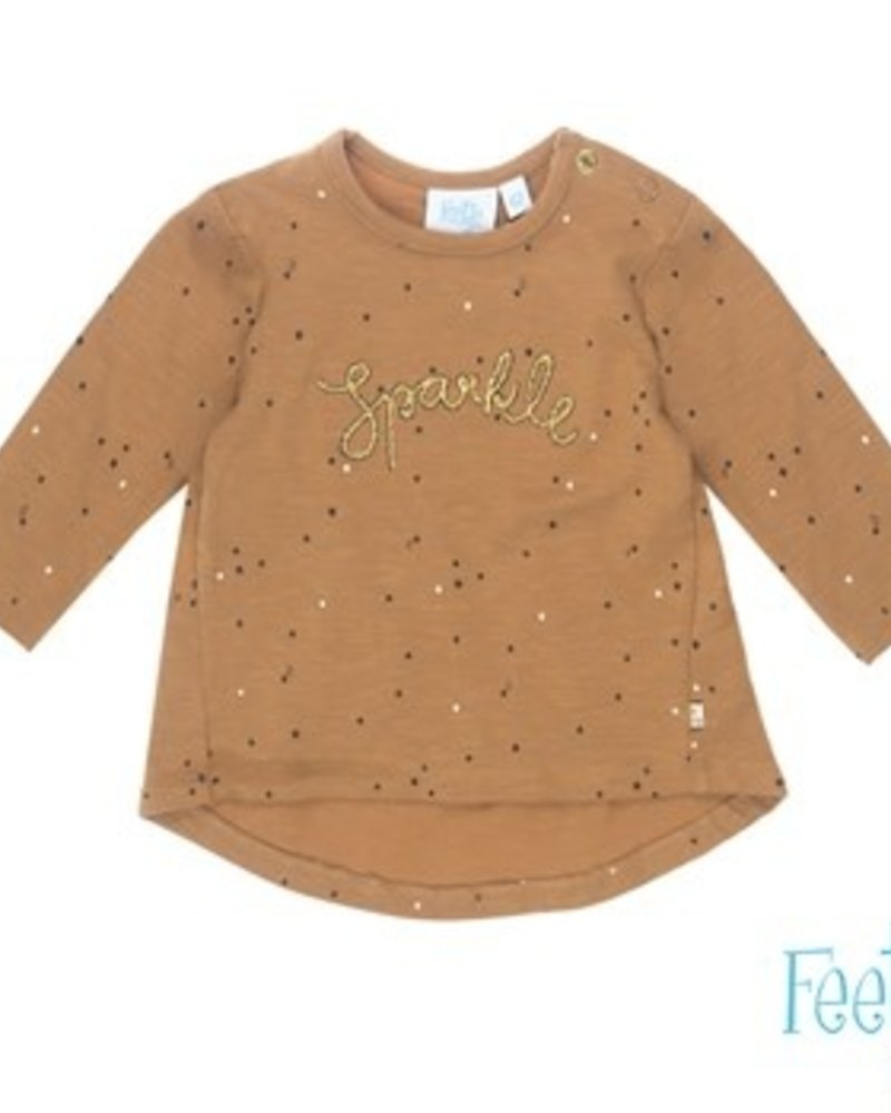 Feetje Baby Sweater AOP Color: camel