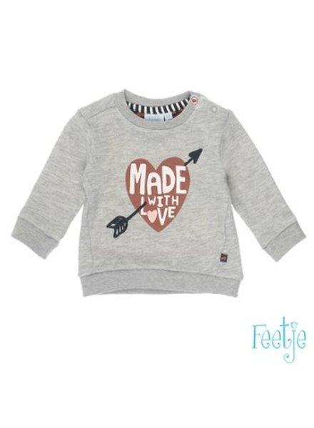 Feetje Girls Sweater Color: grijs melange