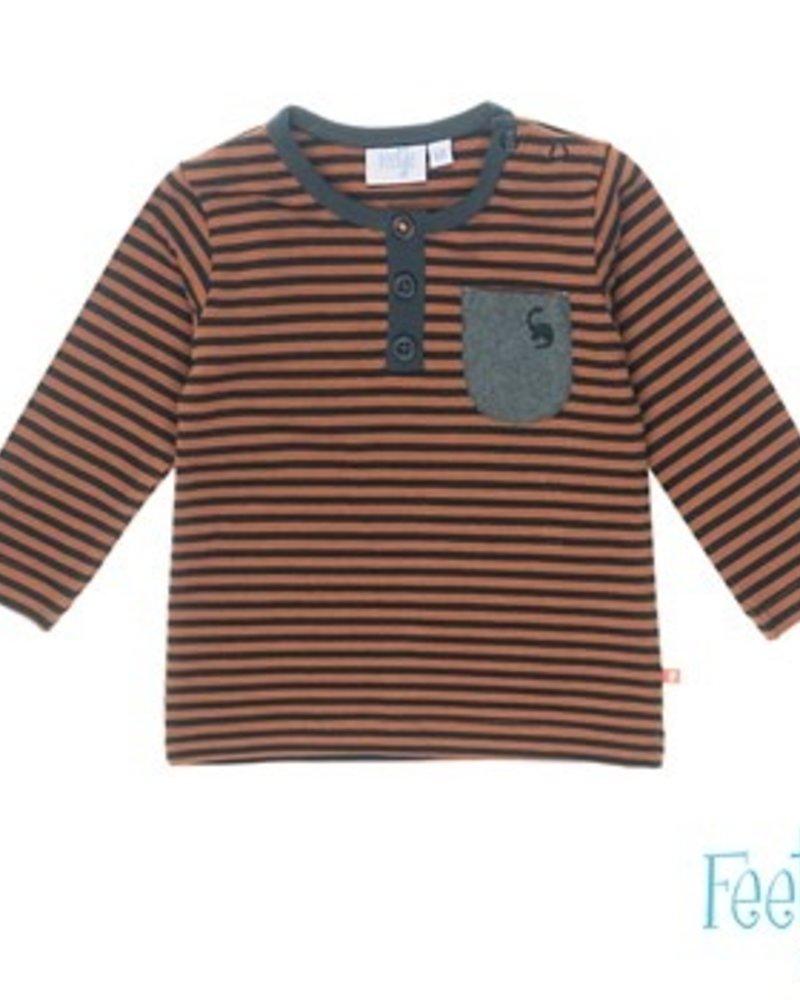 Feetje Boys longsleeve stripe Color: bruin