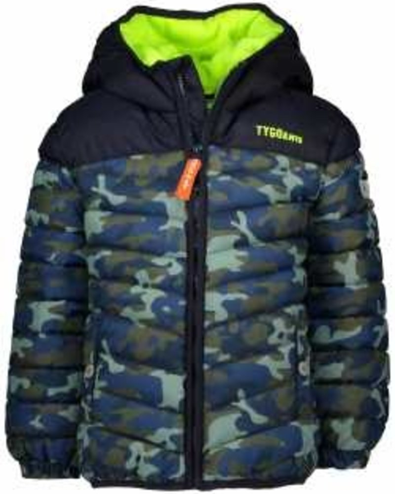 Tygo & Vito Boys Jacket Camo AOP Color: dark army