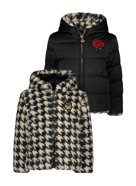 Like Flo Flo girls reversibele hooded fur jacket