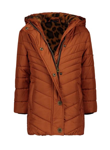 Like Flo Flo girls long hooded jacket fancy quilting