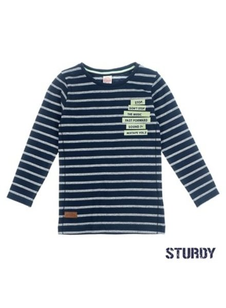 Sturdy Boys Longsleeve Streep Color: marine