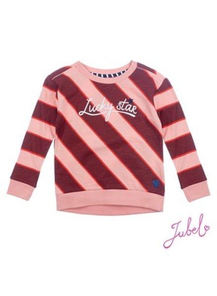 Jubel Girls Sweater Streep Color: roze