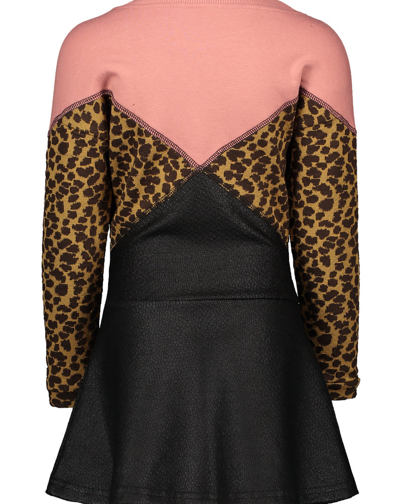 Like Flo Girls jacquard snake colour block dress Color: old pink